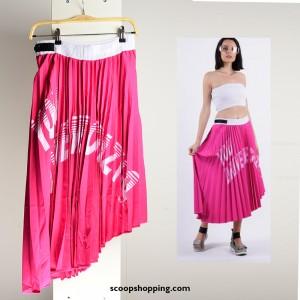 Chinos pleated skirt