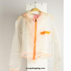 Blues jacket transparent zipper