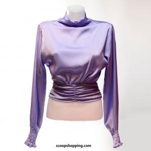 soft satin blouse