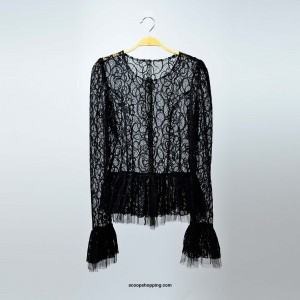 Lace sleeves sweatshirt