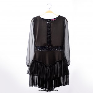 Chiffon sleeves short dress