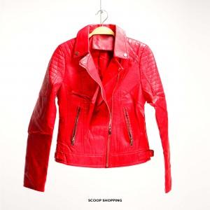 Chinos leather jacket