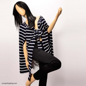 Casual striped jacket with inner lining