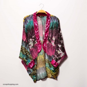 Colored jacket with sequins