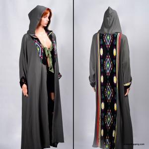 A soft jacket abaya