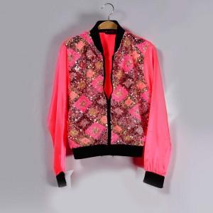 A satin jacket